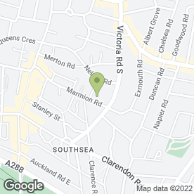 Map of Just Sew in Southsea, hampshire