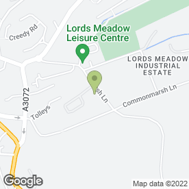 Map of Eakers Diy in Lords Meadow Industrial Estate, Crediton, devon