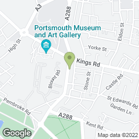 Map of CHURCHERS SOLICITORS in Southsea, hampshire