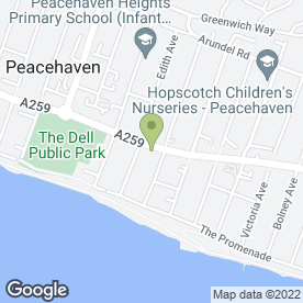 Map of Promenade Hair & Beauty in Peacehaven, east sussex