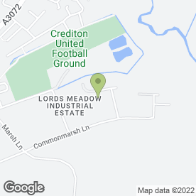 Map of Ben Kingsland Carpet & Flooring Contractors in Lords Meadow Industrial Estate, Crediton, devon