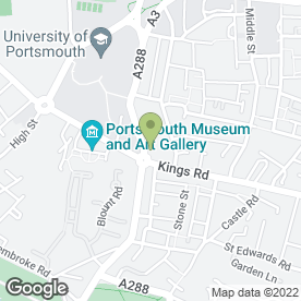 Map of David Bailey in Portsmouth, hampshire