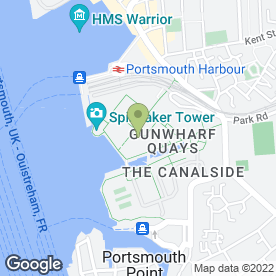 Map of highlight Comedy Club in Portsmouth, hampshire