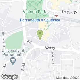 Map of The White Swan in PORTSMOUTH, hampshire