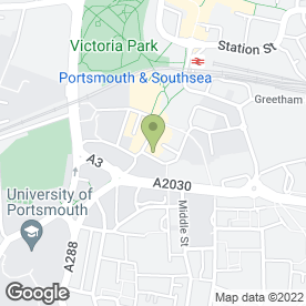 Map of Route 66 in Portsmouth, hampshire