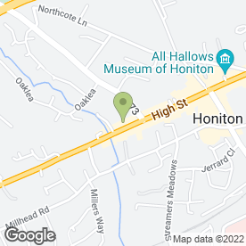 Map of The Volunteer in Honiton, devon