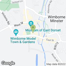 Map of Wimborne Chiropody Surgery in Wimborne, dorset