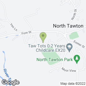 Map of ROBINSON PLANT in North Tawton, devon
