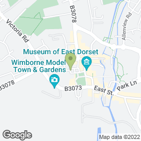 Map of White Hart in Wimborne, dorset