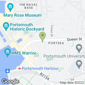 Map of The Royal Maritime Club in Portsmouth, hampshire