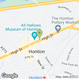 Map of Haughty Culture in Honiton, devon