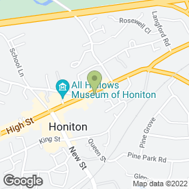 Map of Harvey & Wade in HONITON, devon