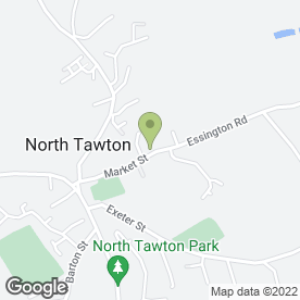 Map of North Tawton Medical Practice in North Tawton, devon