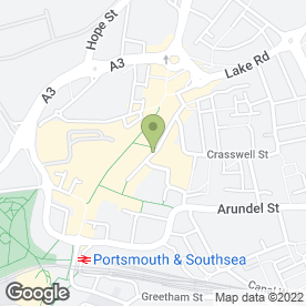 Map of Greggs in Portsmouth, hampshire