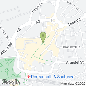 Map of O2 (UK) Ltd in Portsmouth, hampshire