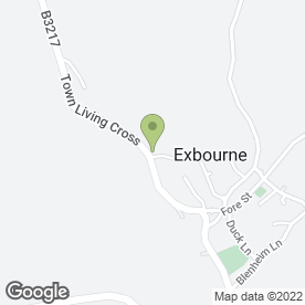 Map of D.H Services in Exbourne, Okehampton, devon