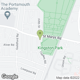 Map of Little Learners Daycare Ltd in Fratton, Park Lodge, Portsmouth, hampshire