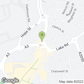 Map of Amanda's Cycle Shop in PORTSMOUTH, hampshire