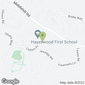 Map of Chrysalis Montessori Nursery School in Wimborne, dorset