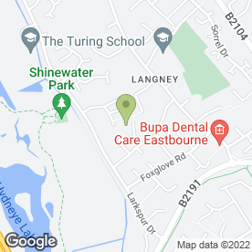 Map of Smile Driving School in Eastbourne, east sussex