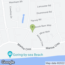 Map of Boulevard Landscapes Ltd in Goring-by-Sea, Worthing, west sussex