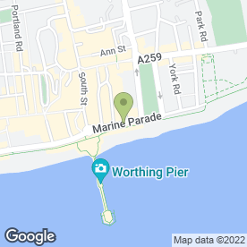Map of Stagecoach in Worthing, west sussex