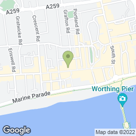 Map of Thomson in Worthing, west sussex