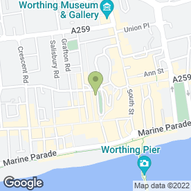 Map of McDonald's Restaurants Ltd in Worthing, west sussex
