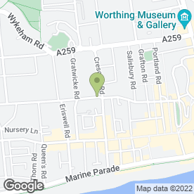 Map of Monetaire Ltd in Worthing, west sussex