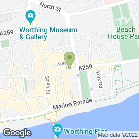 Map of Cafe 33 in Worthing, west sussex