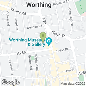Map of Worthing Borough Council in Worthing, west sussex