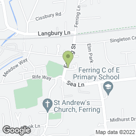 Map of Ferring Dental Practice Ltd in Ferring, Worthing, west sussex