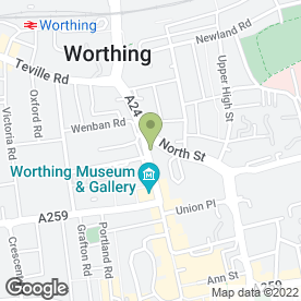 Map of Coins & Collectibles in Worthing, west sussex