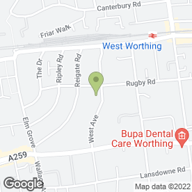 Map of Mr Tree in Worthing, west sussex