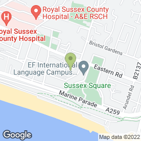 Map of The Fish Tank in Brighton, east sussex