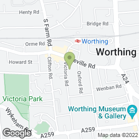 Map of Northdale Veterinary Practice Ltd in Worthing, west sussex