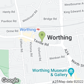Map of Unleashed Dog Day Care in Worthing, west sussex