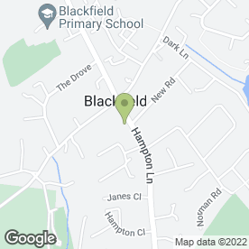 Map of Blackfield Newsagents & Post Office in Blackfield, Southampton, hampshire