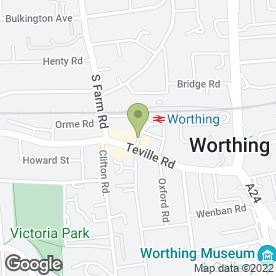 Map of Worthing Taxis (Wortax) Ltd) in Worthing, west sussex