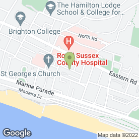 Map of The St. George's Inn in Brighton, east sussex