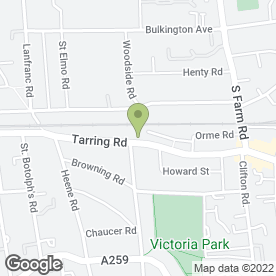 Map of McBride Roofing in Worthing, west sussex