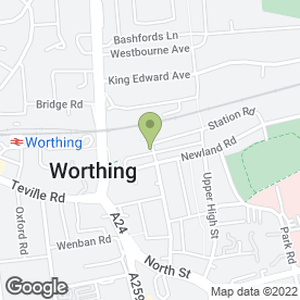 Map of The Co-operative Travel in Worthing, west sussex