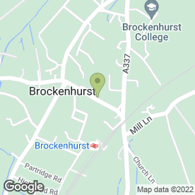 Map of Balmer Lawn Garage Ltd in Brockenhurst, hampshire