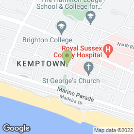 Map of Open Space Dance School in Brighton, east sussex