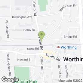 Map of Precision Worthing Ltd in Worthing, west sussex