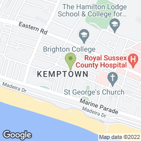 Map of St George's Dental Practice in Brighton, east sussex