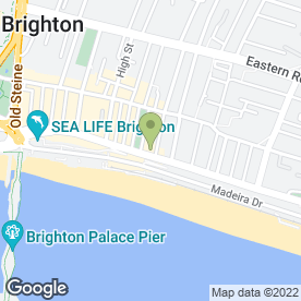 Map of drakes hotel in Brighton, east sussex