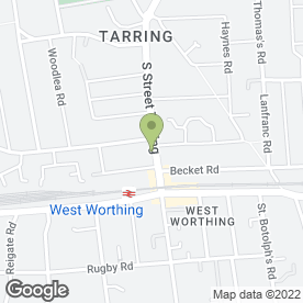 Map of The Tarring Dental Centre in Tarring, Worthing, west sussex
