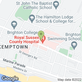 Map of Lawson Unit (HIV) in Brighton, east sussex