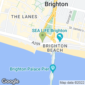 Map of Belushi's in Brighton, east sussex